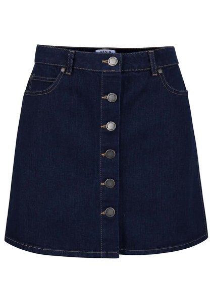 Tmavě modrá denimová sukně Miss Selfridge