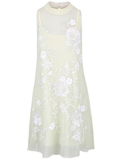 Světle zelené šaty s květovanou aplikací Miss Selfridge
