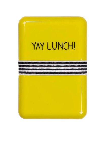 Žltý desiatový box Happy Jackson Yay Lunch
