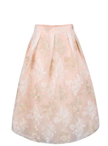 Fustă midi Miss Selfridge roz pudrat