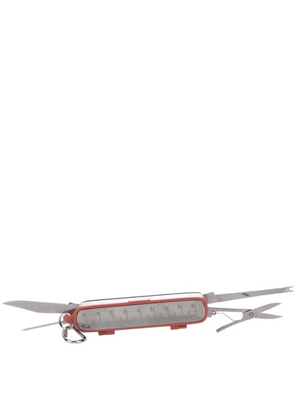Červený rybářský kapesní nůž Hook line & Sinker