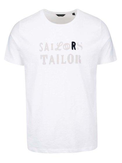 Bílé pánské triko s potiskem Nautica