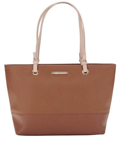 Hnedá kabelka s detailmi v zlatej farbe Dorothy Perkins