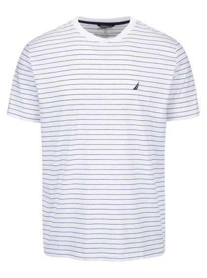 Biele pánske pruhované tričko Nautica