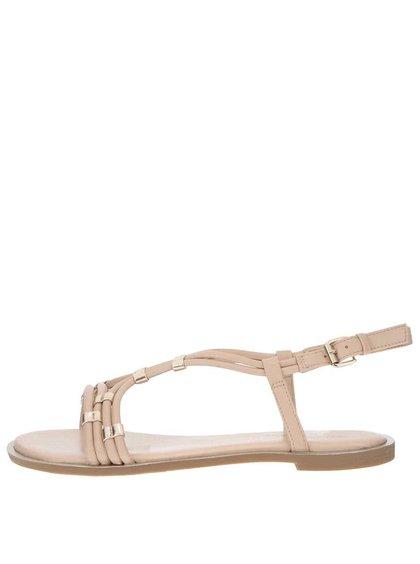 Krémové sandále s detailmi v zlatej farbe Dorothy Perkins