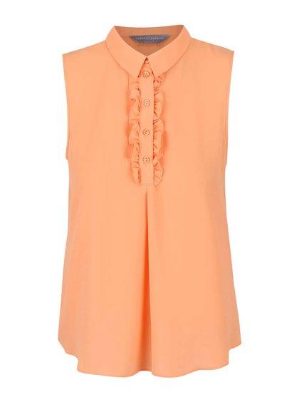 Meruňkově oranžová halenka bez rukávů Dorothy Perkins Petite