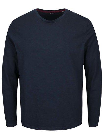 Tmavomodré pánske tričko s dlhým rukávom Nautica