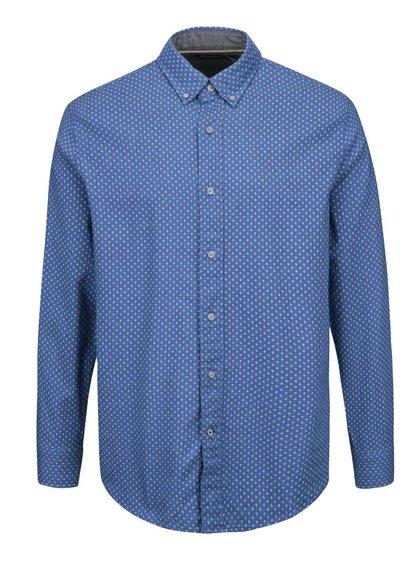 Modrá pánská košile slim fit se vzorem Nautica