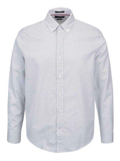 Bílá pánská košile s puntíky Nautica