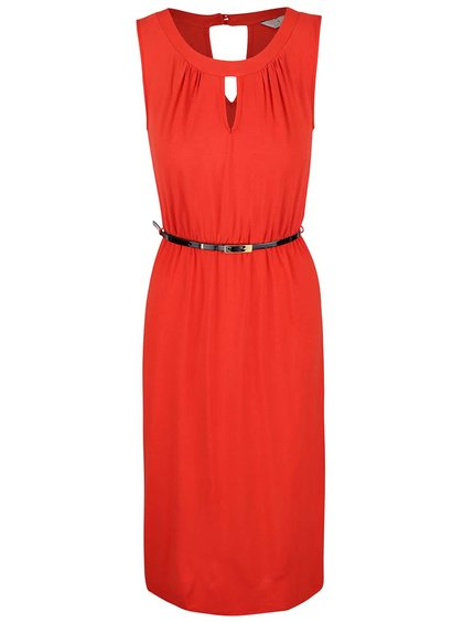 Červené šaty s tenkým opaskom Dorothy Perkins