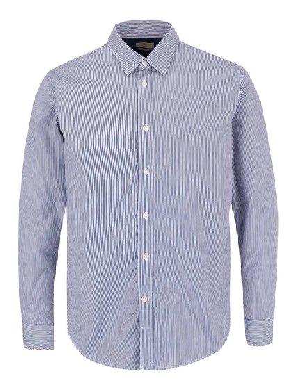 Modro-biela pruhovaná slim fit košeľa Selected Homme Filson
