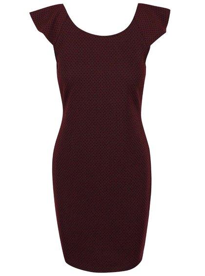 Černo-vínové vzorované šaty VILA Clemment