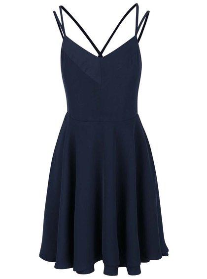 Tmavomodré šaty s tenkými ramienkami Vero Moda Wanda