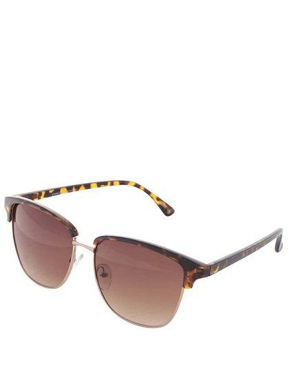 Hnedé korytnačkovité slnečné okuliare Pieces Belucca