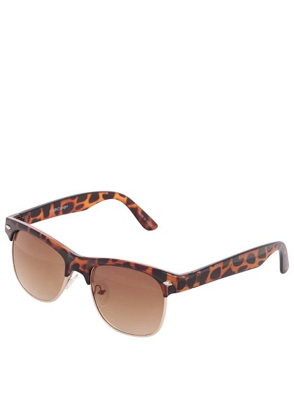 Čierno-hnedé korytnačinové slnečné okuliare Pieces Vibba