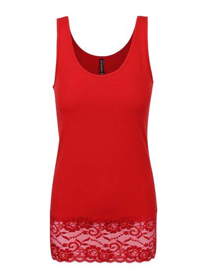 Červené tílko Haily´s s krajkovaným lemem Cami Melinda