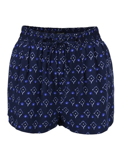 Pantaloni scurţi Haily´s Rachel albastru închis cu imprimeu