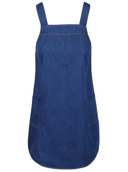 Modré rifľové šaty na ramienka Dorothy Perkins Petite