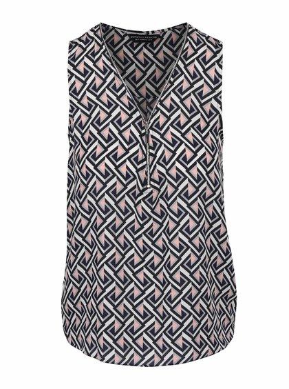 Bluză Dorothy Perkins neagră fără mâneci cu imprimeu