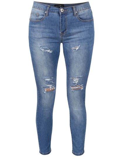 Modré potrhané osminkové džíny Haily´s Paula