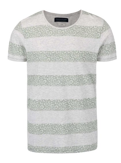 Tricou cu dungi Jack & Jones Baltimore gri