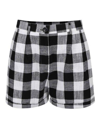 Pantaloni scurți de damă Dorothy Perkins alb cu negru