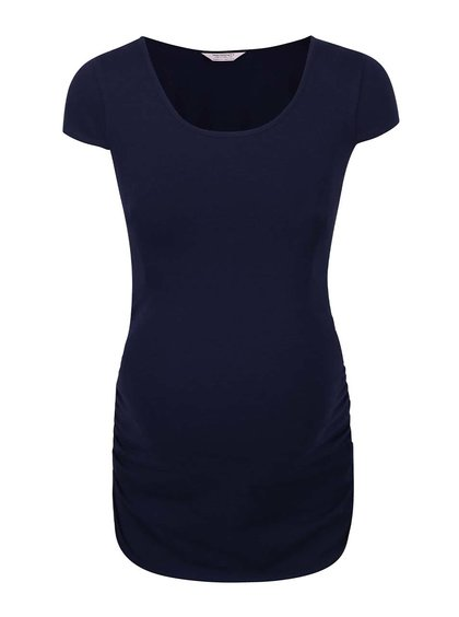 Modré tehotenské tričko s krátkym rukávom Dorothy Perkins Maternity