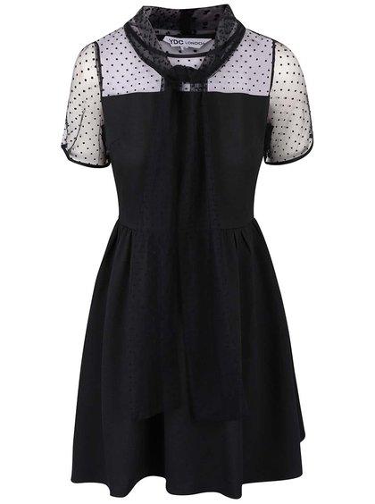 Černé šaty s vázankou LYDC