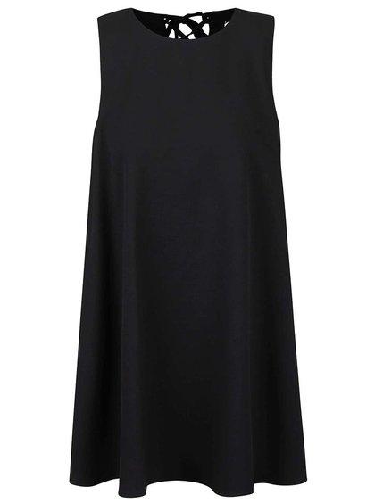 Černé volné šaty bez rukávů LYDC