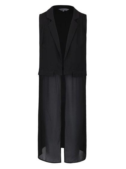 Čierna šifónová vesta LYDC