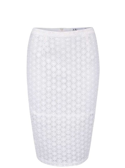 Krémová madeirová sukně Anna Smith