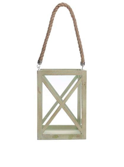 Suport de lumânare Dakls verde, din lemn