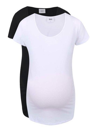 Set de 2 tricouri  Mama.licious Lea alb/negru