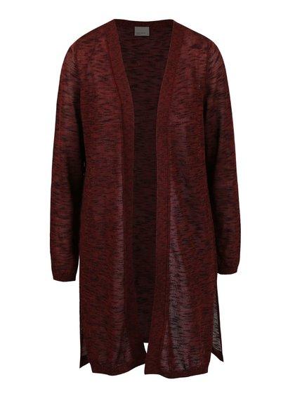 Cihlový žíhaný cardigan Vero Moda Blacke