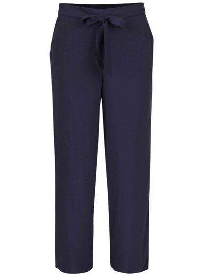 Tmavě modré volnější kalhoty ONLY Nova Plain