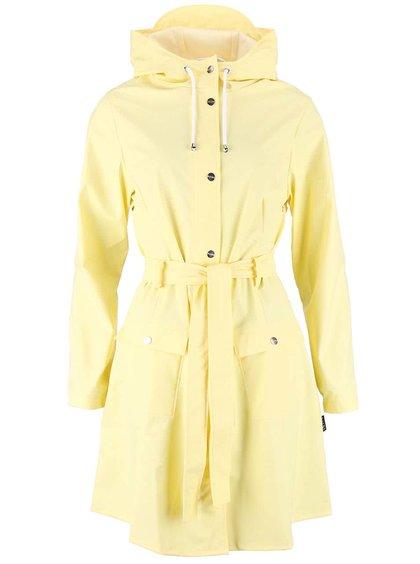 Svetložltý dámsky nepremokavý kabát RAINS