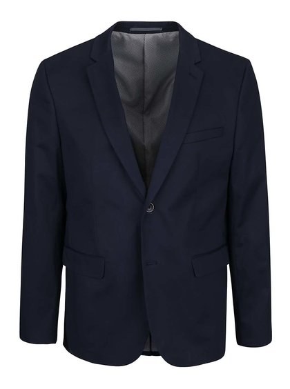 Tmavomodrý blejzer Burton Menswear London
