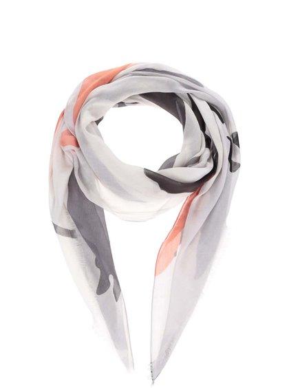 Šedý šátek Pieces Blanca