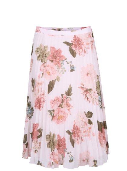 Krémová kvetovaná midi sukňa Miss Selfridge