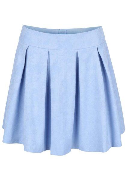 Světle modrá skládaná sukně Miss Selfridge