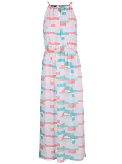 Zeleno-ružové vzorované maxi šaty Alchymi