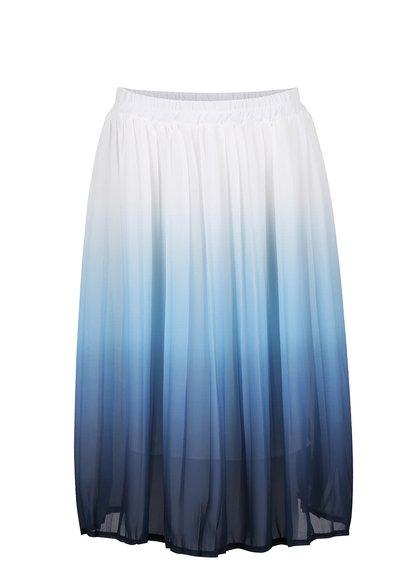 Bielo-modrá skladaná sukňa s ombré efektom Alchymi Erica