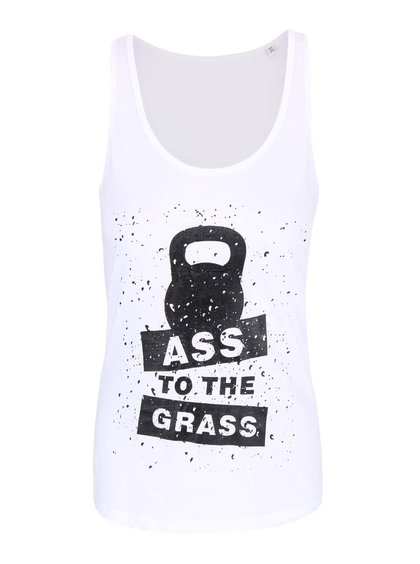 Bílé dámské tílko ZOOT Originál Ass To The Grass