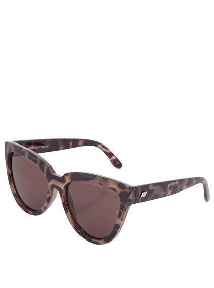 Čierno-hnedé dámske slnečné okuliare Le Specs Liar Lair