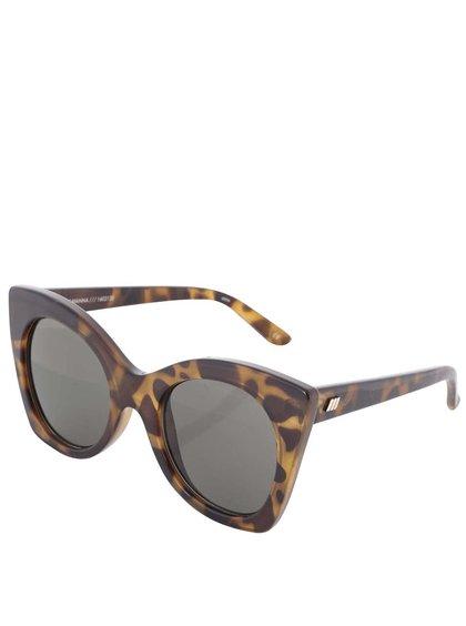 Hnědé dámské želvovinové sluneční brýle Le Specs Savanna