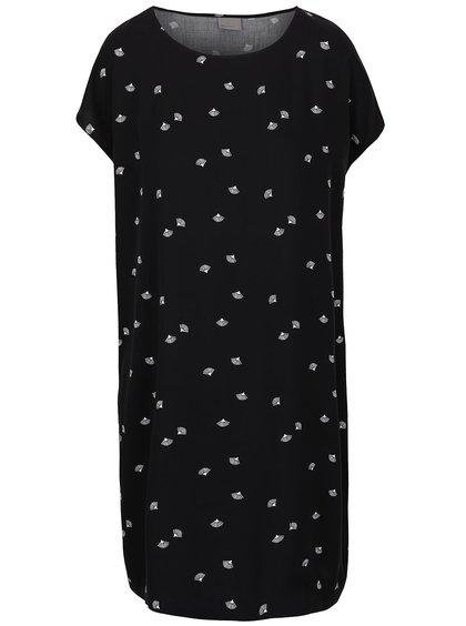 Čierne voľné vzorované šaty Vero Moda New Maker