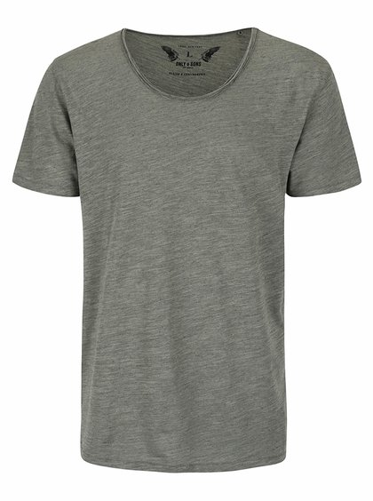 Tricou gri ONLY & SONS Albert din bumbac