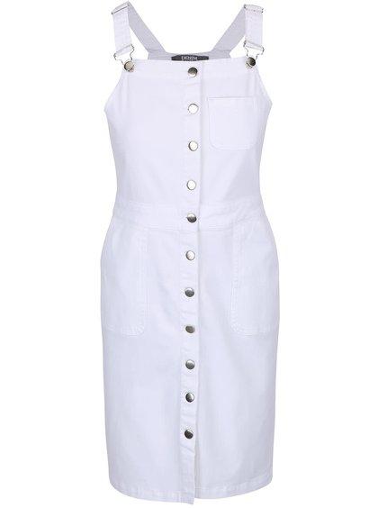 Biele šaty na traky s gombičkami Dorothy Perkins