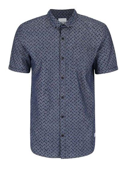 Modrá vzorovaná košile Shine Original Gibson Out