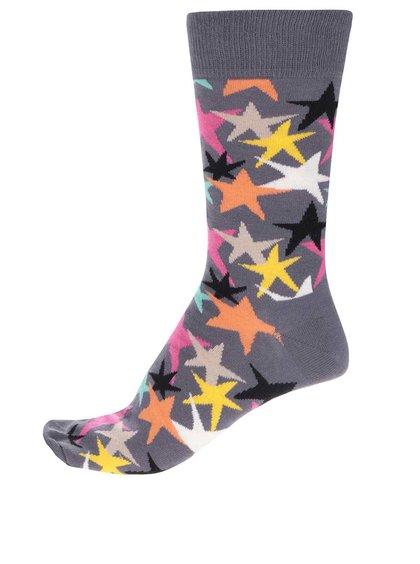 Șosete gri Happy Socks Stars  pentru bărbați